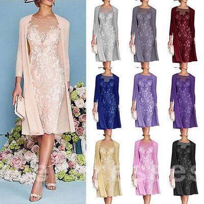 Elegant Rosa Chiffon Kleider Damen Festlich Gr 32 34 36 38 ...