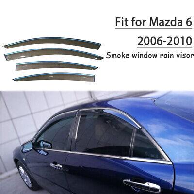 Mazda 6 Mazda6 Seden 2009-2013 Window Visor Vent Sun Shade Rain Guard 4pcs