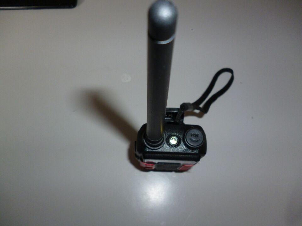 vandtæt vhf radio med tilbehør