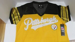 ab208440 Details about Official NFL Team Apparel Women's Pittsburg Steelers Jersey  Size Large NWT