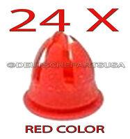 24 X Red Fender & Door Molding Trim Clips For Various Mercedes Benz 0019882081