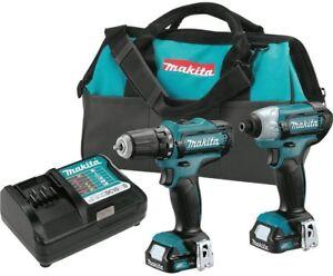 Makita-Drill-Impact-Driver-Combo-Kit-12V-Max-CXT-Lithium-Ion-Cordless-2-Pc