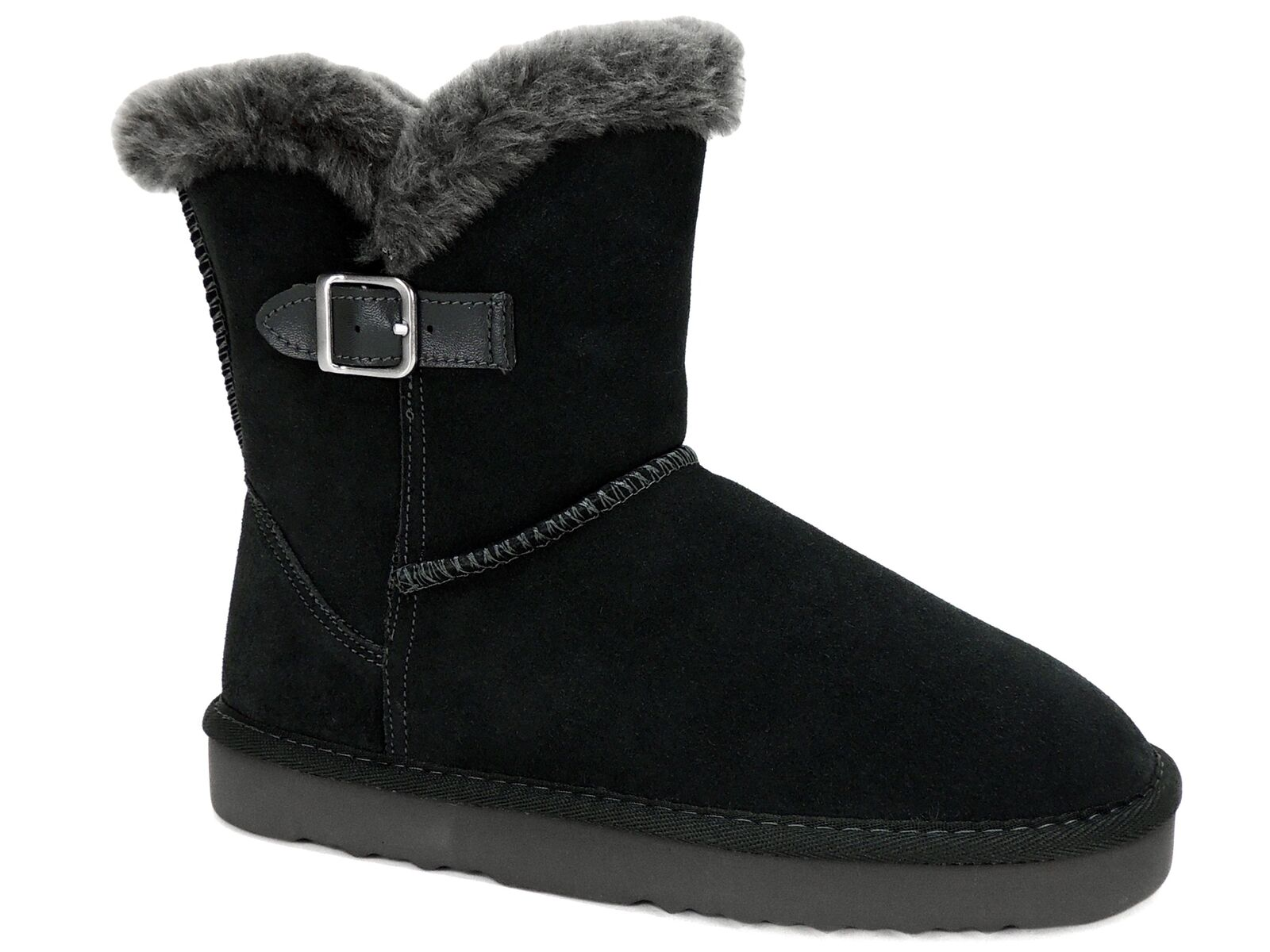 Style&co. Women's Tiny Faux-Fur Low Shaft Faux-Fur Tiny Cold Weather Boots Gray Suze Size 8 M 5f9f43