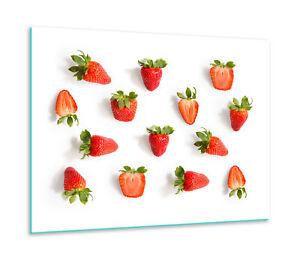 FORNELLO Mascherina Ceran 1 pezzi frutta 60x52 rosso copertura vetro PARASPRUZZI Decorazione