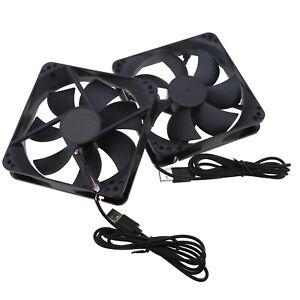 2PCS 120 MM Fan USB Powered Fan Portable PC Cooling Blower 5V USB Cooling Fan