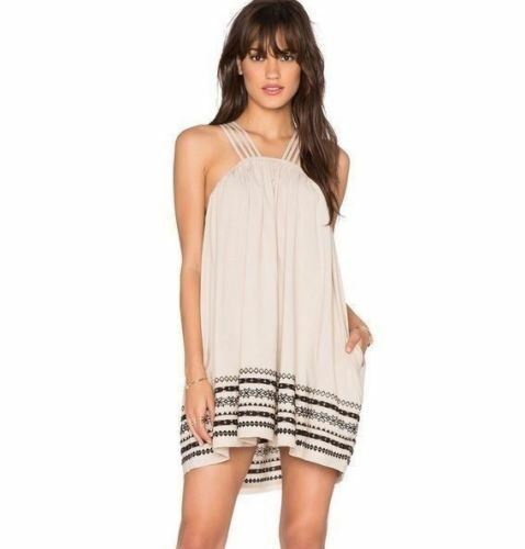 Free People Embroidered Trapeze Kashmir Tent Womens Dress Size Medium New