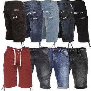 Enzo-Jeans-Homme-Short-en-Jean-Coupe-Standard-Poche-Detail-Designer-Casual-moitie-Pant