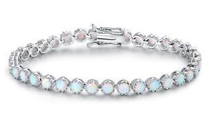 Fire-Opal-Tennis-Bracelet-by-Peermont-NEW