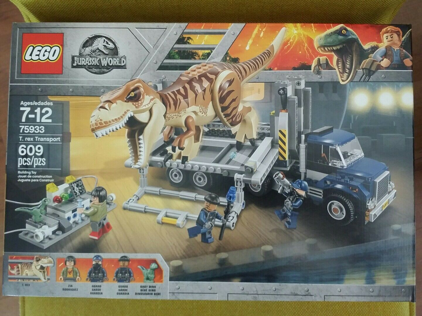 Nuovo LEGO 75933 JURASSIC WORLD FALLEN KINGDOM T. REX TRANSPORT
