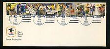 US FDC #1489-1498 USPS Postal People 4/30/1973 Cranbury NJ New Jersey