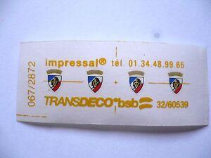 INTROUVABLE-4-BLASONS-034-RESISTANCE-FER-034-POUR-CC-6500-JOUEF-CHAMPAGNOLE-HO