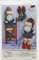 Country Primitive Christmas Santa Dolls Pattern 1991