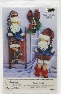 Country-Primitive-Christmas-Santa-Dolls-Pattern-New-1991