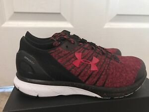 on sale 7874d 977ee Details about Under Armour Charged Bandit 2 Mens Running Shoes 1273951 600  Red/Black