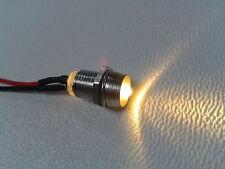 5x LED warmweiß mit Fassung verkabelt 12V inkl. Vorwiderstand anschlussfertig