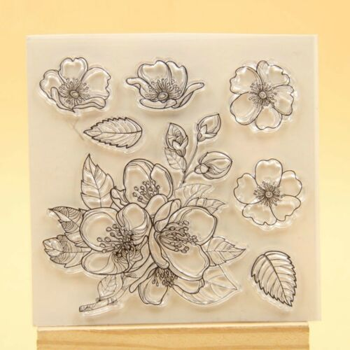 Flower Transparent Clear Silicone Stamp Cutting Dies Set DIY scrapbooking//photo