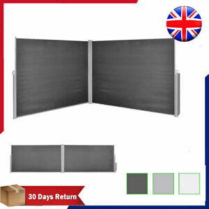 reputable site 9a9bb 024bf Details about Retractable Side Awning Garden Sunshade Blind Patio Privacy  Screen Double-sided