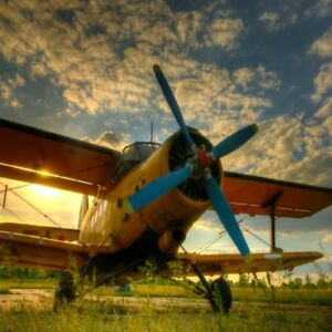 Image Is Loading Vintage Aircraft Backdrop Blue Sky Cloud Photography Background
