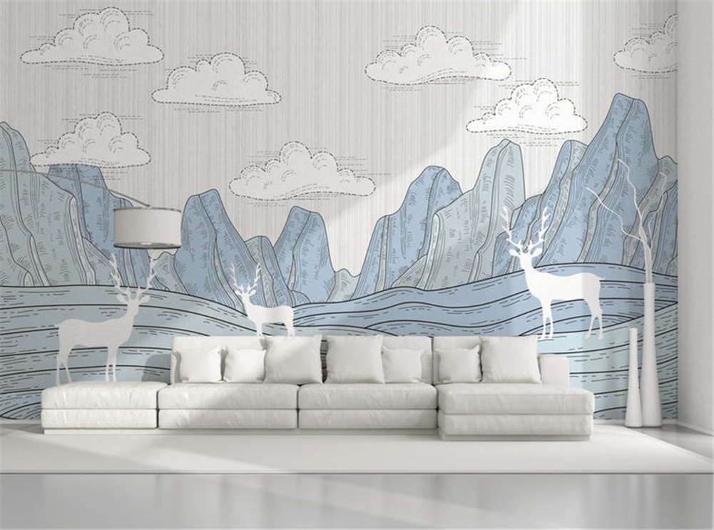 Tall Implicit Hill 3D Full Wall Mural Photo Wallpaper Printing Home Kids Decor