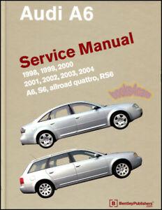 Shop Manual A6 Service Repair Audi Bentley Book Allroad Quattro Workshop Guide Ebay
