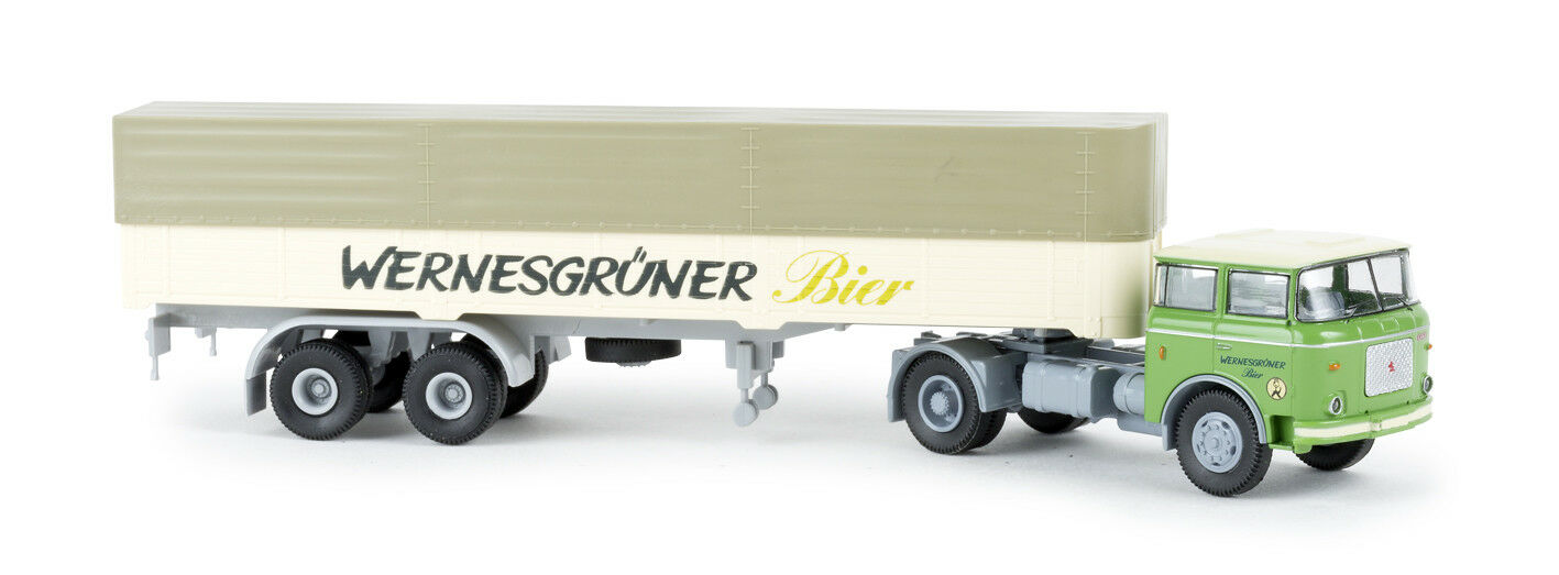 LIAZ 706 PP-SZ   Wernesgreener Beer  , H0 Car Model 1 87, Brekina 71808