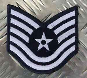 US-Air-Force-USAF-Technical-Sergeant-Military-Iron-on-Badge-Patch-NEW