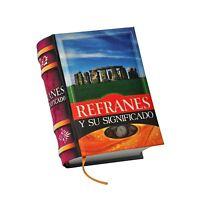 Miniature Book Refranes Y Su Significado Spanish Hardcover 430 Pg Easy Read