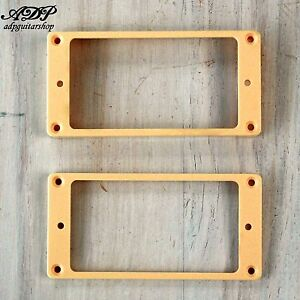 2 Contours Humbucker Gibson Lp Cream Pickup Mounting Rings Curved Les Paul Mr-2c Kapulwz4-07171927-734205457