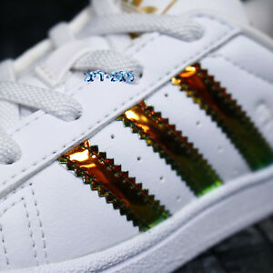 8cdd751f6208e Image is loading ADIDAS-SUPERSTAR-GOLD-IRIDESCENT-TODDLER-BOYS-SIZE-8K-