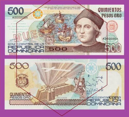 Reproductions Dominican Republic 500 Pesos 1992 UNC