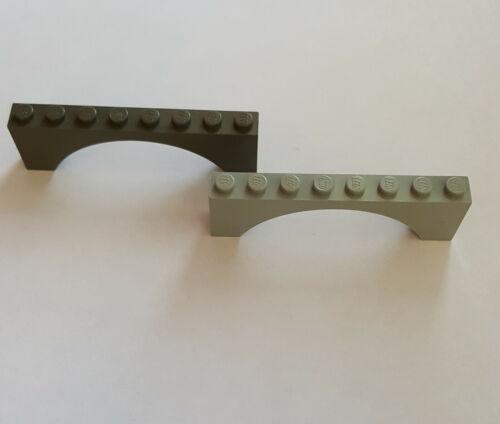 Lego 3308 Brückenstein Schrägstein1x8x2 Alt Hellgrau Alt Dunkelgrau Auswahl 202
