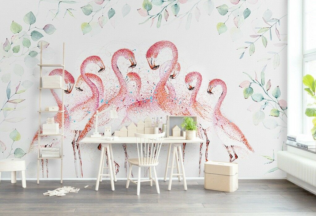 3D Crane Animal 84 Wall Paper Exclusive MXY Wallpaper Mural Decal Indoor Wall AJ