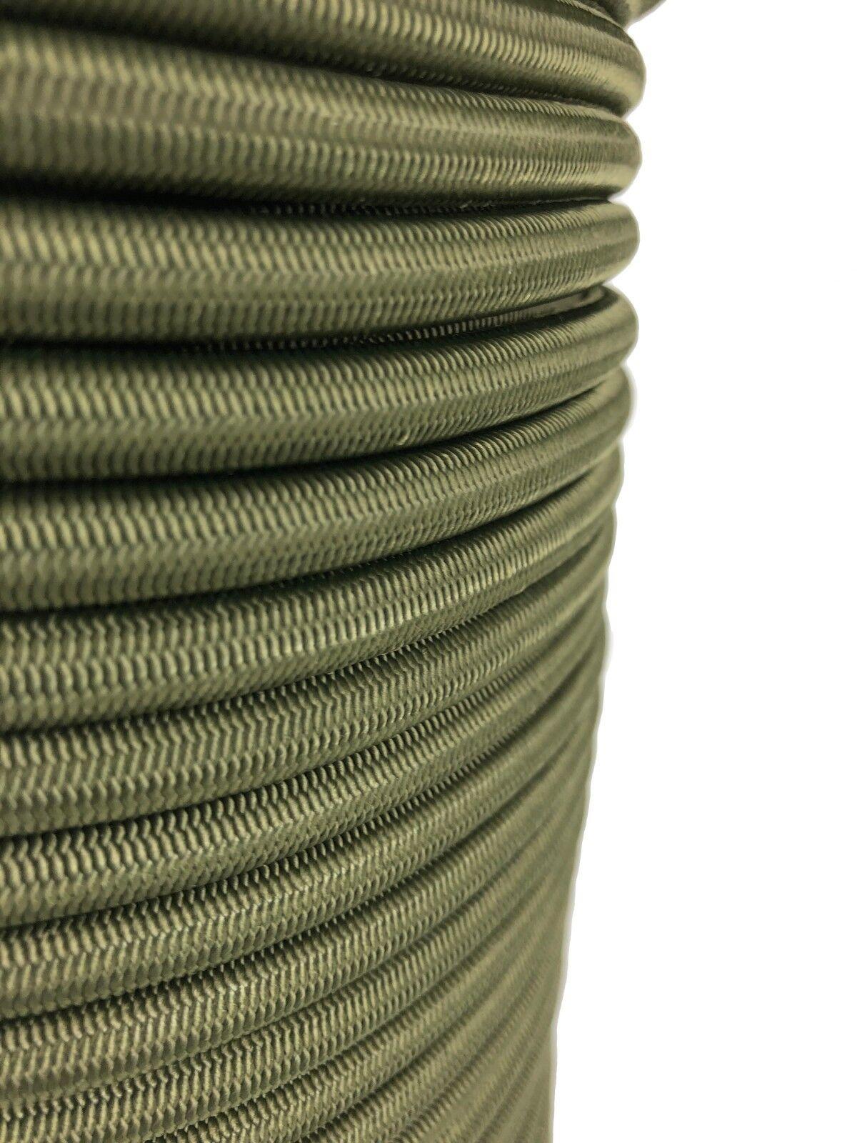 12mm Olive Elastischer Gummizug Seil Seil Seil X 15 Meter Krawatte Unten 743c19