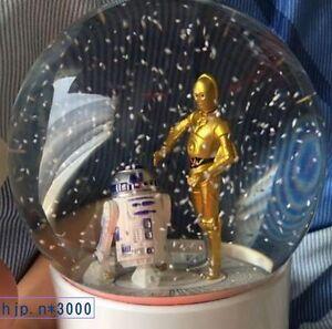 New-Star-Wars-WIRELESS-Snow-Globe-Dome-SPEAKER-R2-D2-C-3PO-Figure-Japan-Licensed