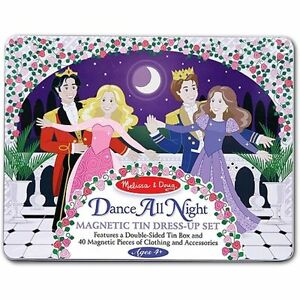 Melissa-amp-Doug-Dance-All-Night-Magnetic-Tin-Dress-Up-Set-Princess-Doll-Magnets