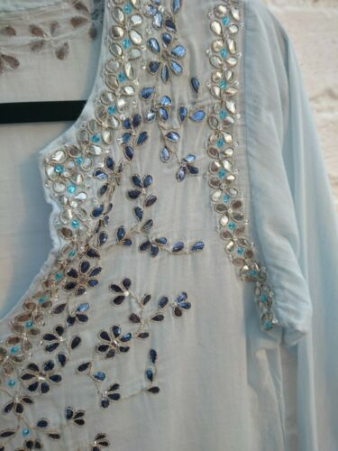 Blue 10 Dunn Size impreziosito Kaftan Hippy 1 Dress Boho Sequin Top 8 Juliet Uk 5BxHzpnHq