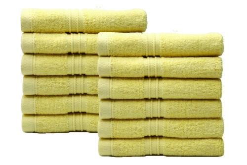 Luxe 700 Gsm Pack De 12 100/% Coton Visage Serviettes En Tissu flannels Wash Cloth!!!