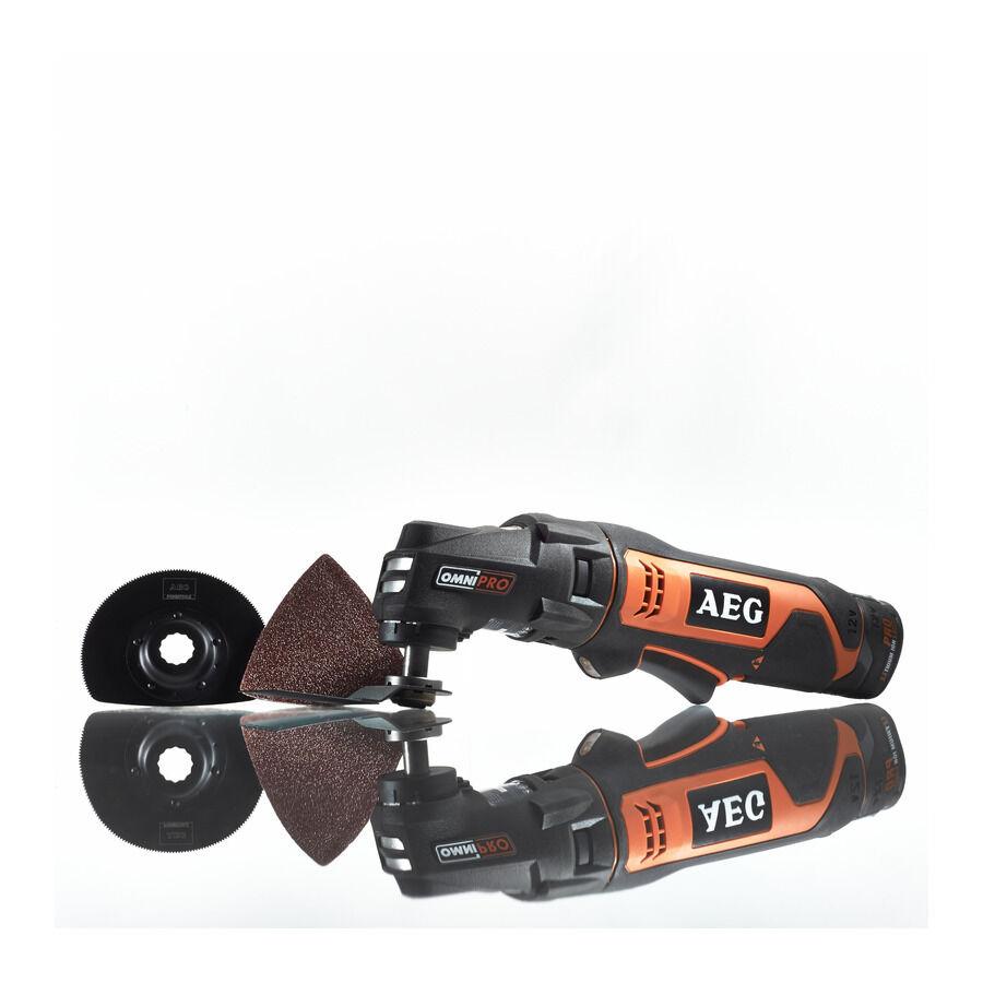 AEG Akku Multitool OMNI 12 C/1.5 Ah   BWS 12 C   mit 2 x1,5 Ah Akkus