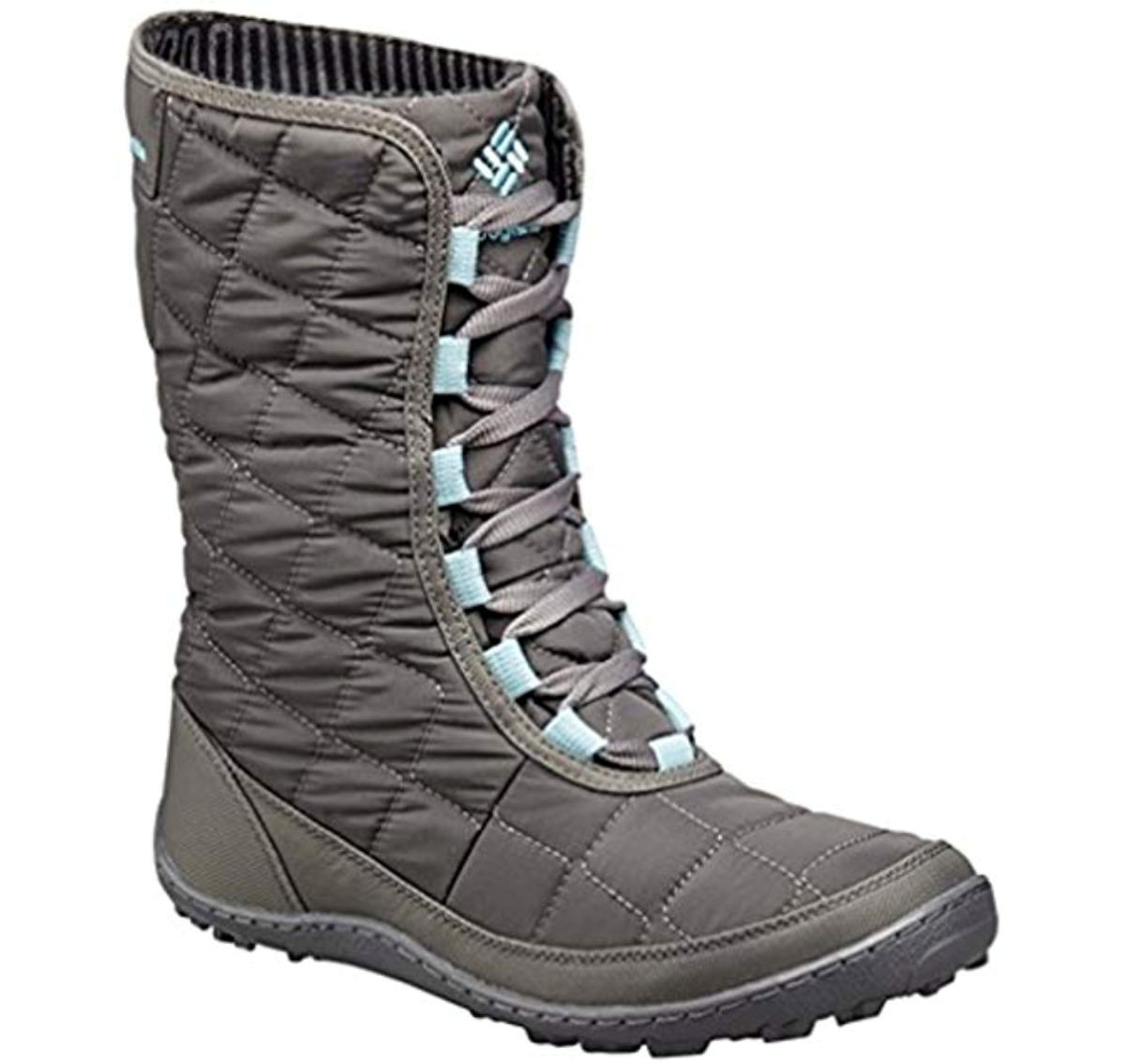 Columbia Damenschuhe Crystal Mid Lace Thermal Coil Snow Stiefel City Grau/Aqua Winter Snow Coil 1fb54d