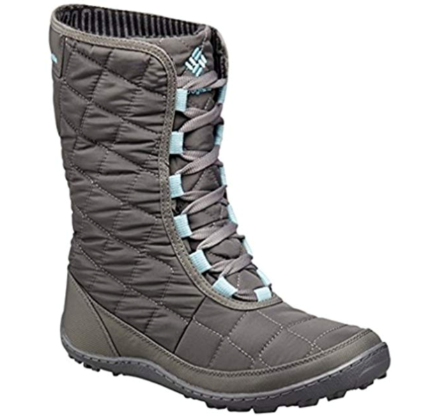 977818e3fcf Columbia Womens 6 Crystal Mid Lace Thermal Coil Boots City Grey/Aqua Winter  Snow