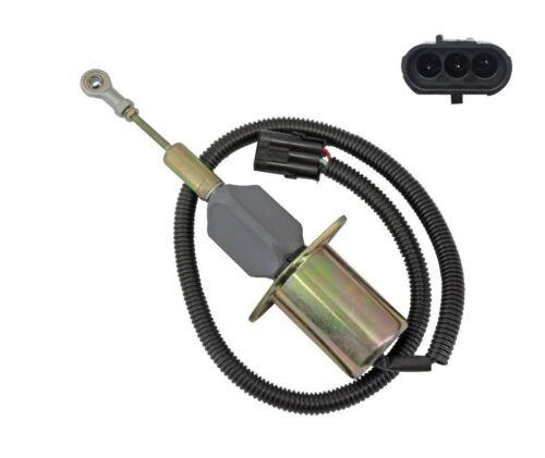 NEW Fuel Shutoff Solenoid for Cummins Excavator 3932546 24V SA-4639-24 USA STOCK