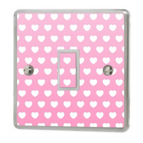 Skin cover sw31 Pink Love Hearts Light Switch Sticker Vinyl