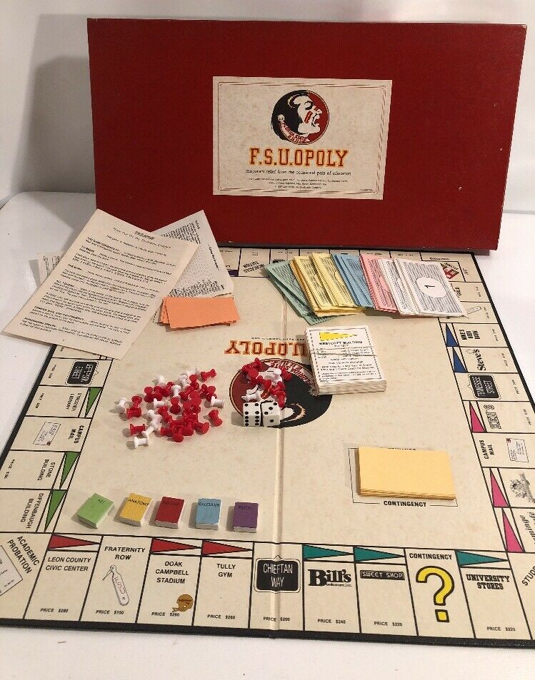 FSU F.s.u.Opoly  Florida State Monopoly Board Board Board Game  F S U University 1st Edition b6de15