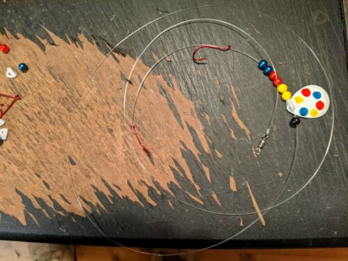 Le Doré Jaune Crawler Harnais 2 crochets avec Changement Rapide Chape Appât