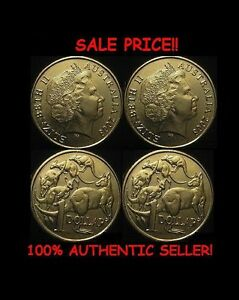 Paar Echt Zweiseitig Australische Dollar Münze 1 Zwei Köpfiger 1