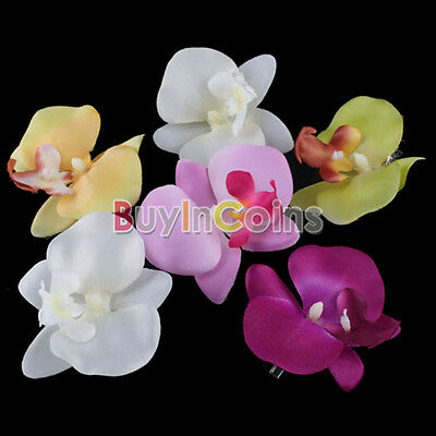 6 PCS Flower Orchid Hair Clip Hairpins Bridal Hawaii Party Girl BA