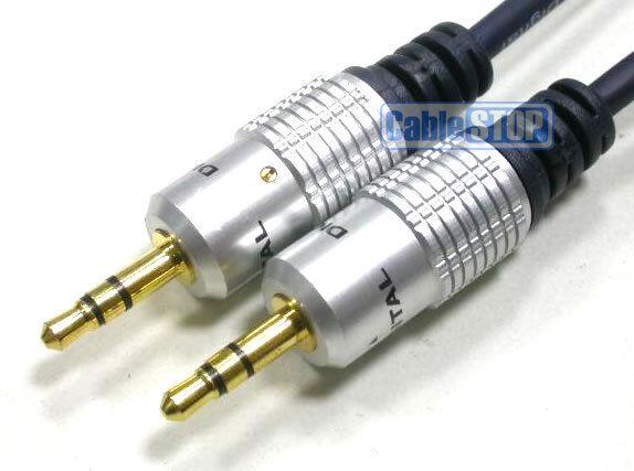 5m PRO 3.5mm Stereo Jack to Jack Plug Audio Headphone Car Aux Lead 5 Metres