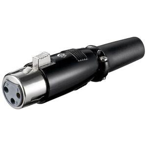 XLR-Audio-runder-Stecker-Buchse-3-Polig-zum-selbst-loeten-Loetversion-fuer-Mikrofon