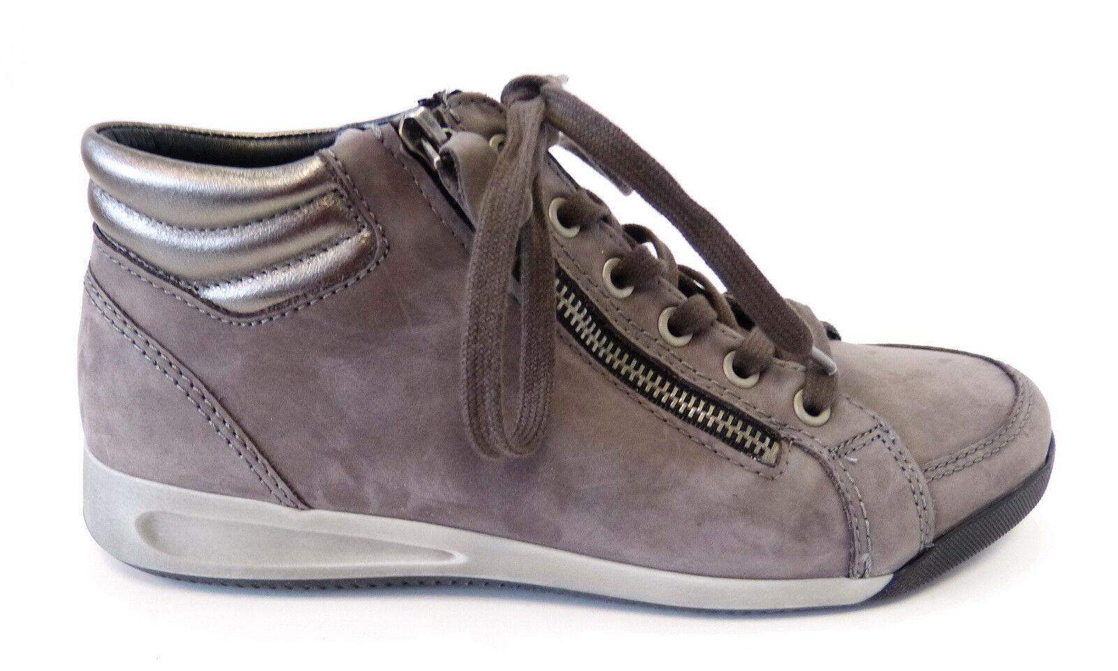 Grandes zapatos con descuento Ara High Top Sneaker Boot 44410 11 Rom street grau gun Reißverschluß Weite G