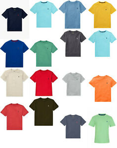 Genuine-Ralph-Lauren-Polo-Boys-Cotton-Short-Sleeve-Pony-T-Shirt-Tee-Top-Blue-New
